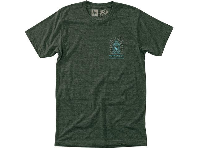 Hippy Tree Lantern T-shirt Herrer, heather forest
